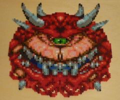 DOOM Cacodemon Bead Sprite by monochrome-GS