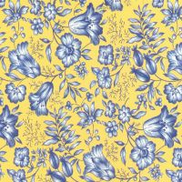 Yellow with blue flowers scrap by jinifur