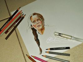 Katniss Everdeen by rommeldrawlines-12