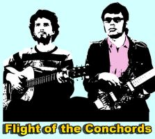 Flight of the Conchords by BillWatterson