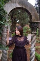 Girl in Cemetery 14 by InTenebris-Stock