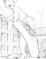 Lois town giantess by Dominex