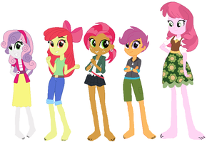 Barefoot Equestria Girls CMC by ChipmunkRaccoon2