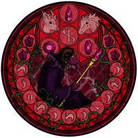 Commission: Stained Glass: Azdar by Akili-Amethyst