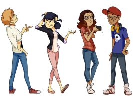The gang - Miraculous Ladybug by Shizzome