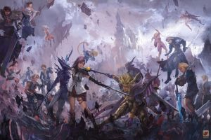 Dissidia Final Fantasy by Tuna-art
