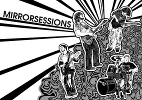 Mirrorsessions Poster B and W by sharkaholic