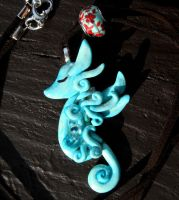 Seahorse Necklace by MaryBunnie
