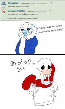 Ask Papyrus and Sans 3 by RandomSatanist