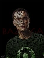 Typographic Portrait Sheldon Cooper by Automaticize