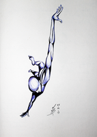 2Sketch 05 (Flying Man) by docthedog