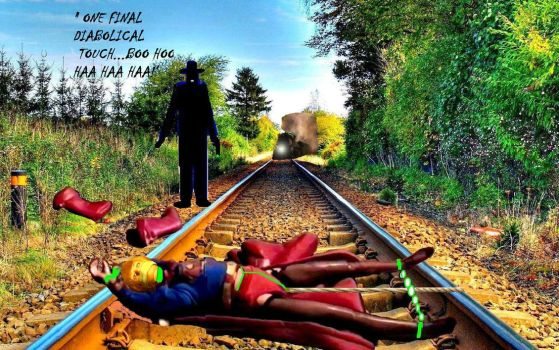 K 'd and tied to the tracks... by capodicapo