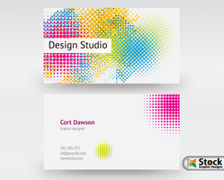 Designer Business Card Vector by Stockgraphicdesigns
