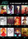 2014 art summary by hazumonster