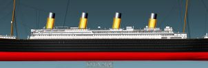 RMS TITANIC PORT SIDE PROFILE complete by ERIC-ARTS-inc