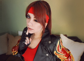 Claire Redfield cosplay RE2 wink by Queen-Stormcloak