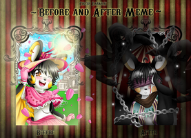 .:Circus Darkrai:. Before And After Meme- Lilly by Demonshark151