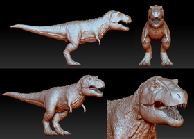 T Rex Completed Model by Axoll