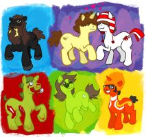 MY LITTLE PONIES PART 1 by guezadilla