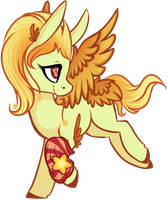 Fiery Glass Star Pony [DTA] The First GSP Ever! by Spiritedflight