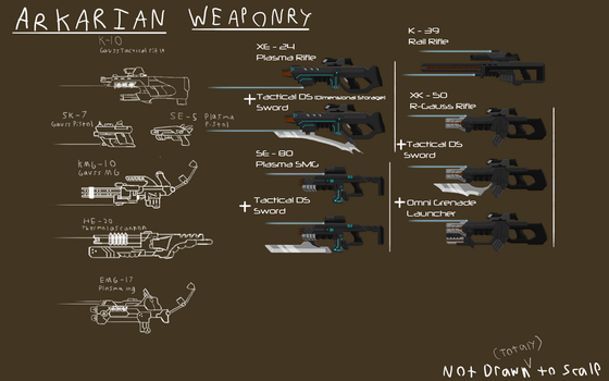 Akarian Weapon Sketches by Gwyvern