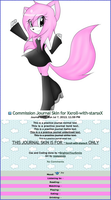 Commission Journal Skin for Xxroll-with-starsxX by BrightenYourSmile