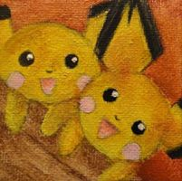 Pichu and Pichu by GoldenLionofRa