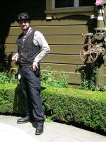 Steampunk Invasion of the Winchester Mystery House by TreeVor