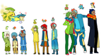 PKMN 2nd gen Starters by Nire-chan
