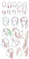 Female hair tutorial by Kuro2Kazu