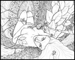 Poison Ivy pencils by AndyMichaelArt