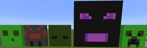 Slime, spider, zombie, Enderdragon, creeper by Votre-texte-ici