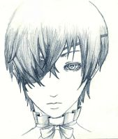 Ciel Phantomhive Pencil sketch by fullmoonnightonigiri