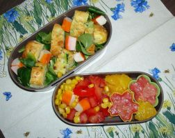 Vegetable cake in my bento by Vetriz