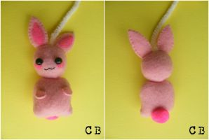 Mini wabit plushie by TheChgz