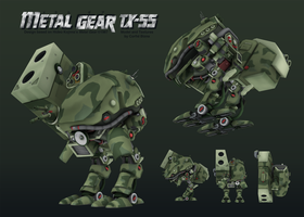 Metal Gear TX55 (Textured) by corfidbizna
