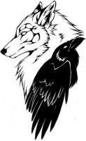 Raven Wolf Tatoo by Raven-Weaver