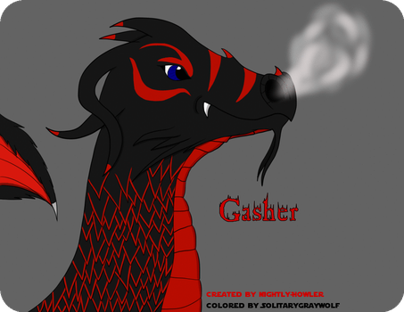Gasher The Dragon with Bio by Nightly-Howler