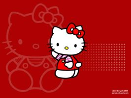 Hello Kitty Wallpaper - Red by Tearless-envy