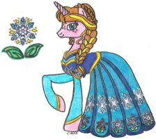 MLP: FiM Disney Princess Anna by CooperGal24