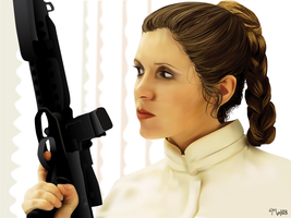 Leia Organa by ManoelaWings