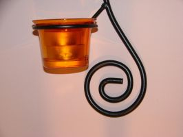 Tea Light and Iron Swirl by RosalineStock