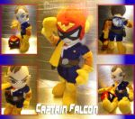 Captain Falcon Plushie by eERIechan