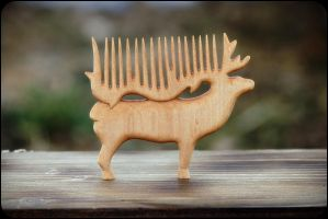 Deer [haircomb] by pagan-art