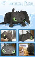 Toothless Plush by Zakeno