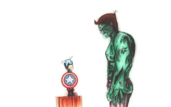 hulk vs CA by RAIDENleto96