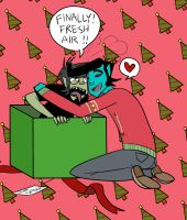 Christmas Present -Murdoc and Kurt- by Vey-kun