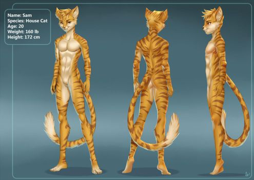 Refence Sheet Sam by playfurry