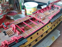 Updated gratings, gun carriages and forecastle by trafalgarhero