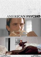american psycho - poster by miss50sretro